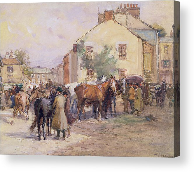 Horse Acrylic Print featuring the painting The Horse Fair by John Atkinson