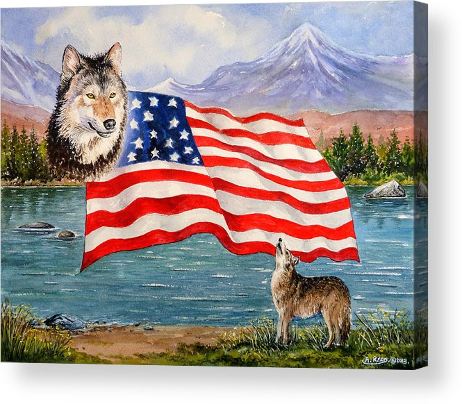 Andrew Read Acrylic Print featuring the painting The Wildlife Freedom Collection 1 by Andrew Read
