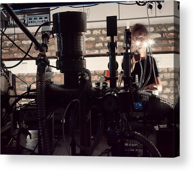 Physics Acrylic Print featuring the photograph Quantum Entanglement Equipment by Volker Steger