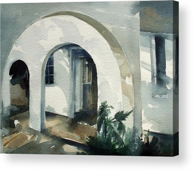 Mombasa Acrylic Print featuring the painting Mombasa Archway by Stephanie Aarons