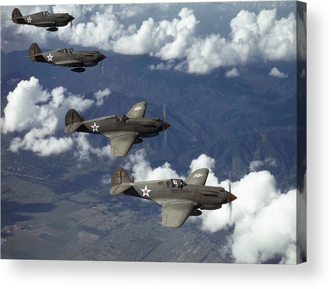 Day Acrylic Print featuring the photograph P-40 Pursuits Of The U.s. Army Air by Luis Marden