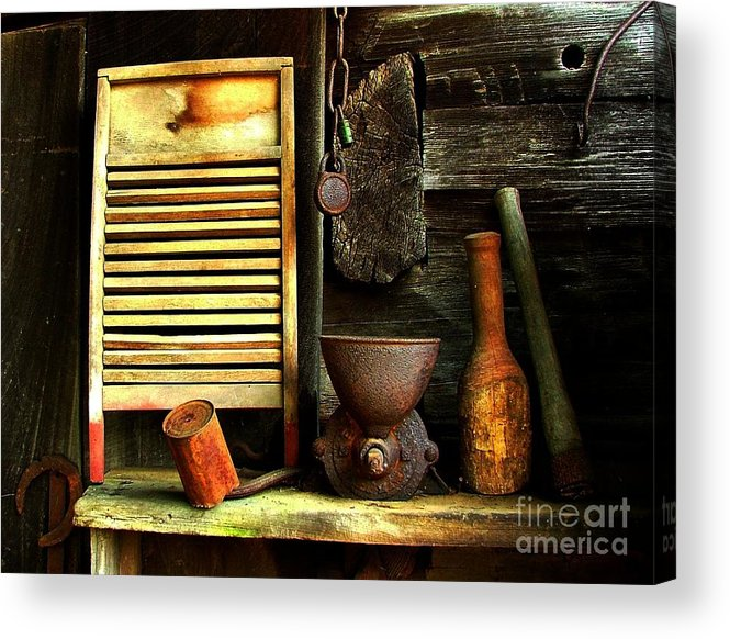 Old Washboards Acrylic Print featuring the photograph Washboard Still Life by Julie Dant