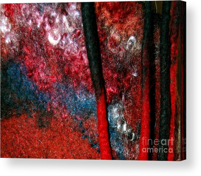 Abstract Acrylic Print featuring the tapestry - textile Waterfall Of Dreadlocks by Alexandra Jordankova