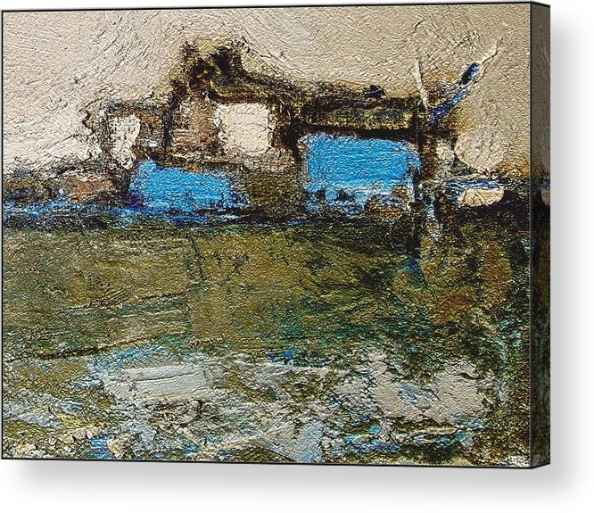 Landscapes Acrylic Print featuring the painting Morning by Pemaro
