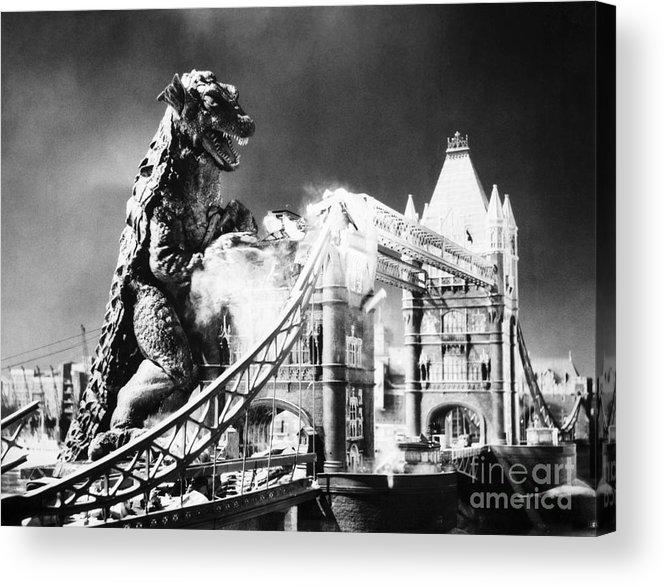 20th Century Acrylic Print featuring the photograph Godzilla by Granger