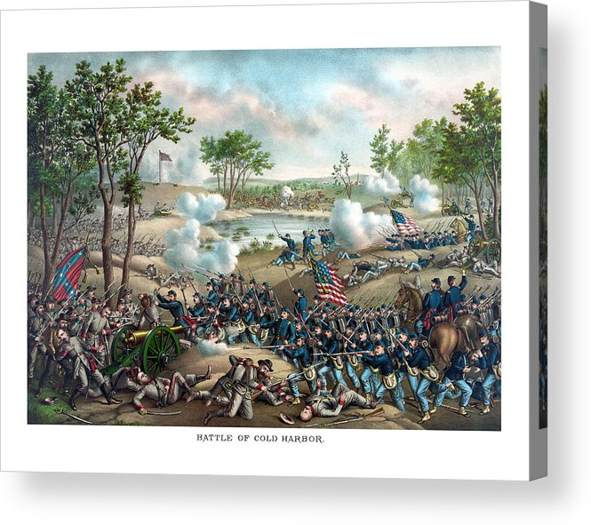 Civil War Acrylic Print featuring the painting Battle Of Cold Harbor by War Is Hell Store