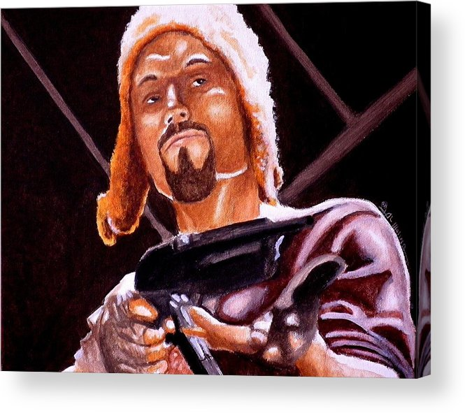 Firefly Acrylic Print featuring the painting Shiny Lets Be Bad Guys by Al Molina