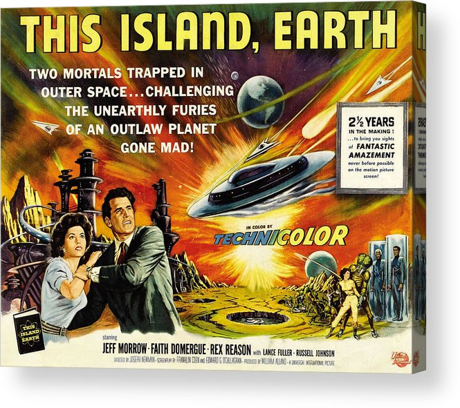 1950s Movies Acrylic Print featuring the photograph This Island Earth, Faith Domergue, Rex by Everett