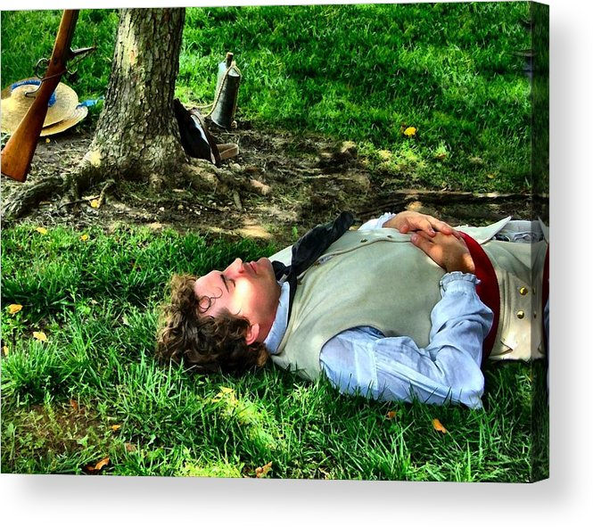 Revolutionary Soldiers Acrylic Print featuring the photograph A Soldier's Rest by Julie Dant