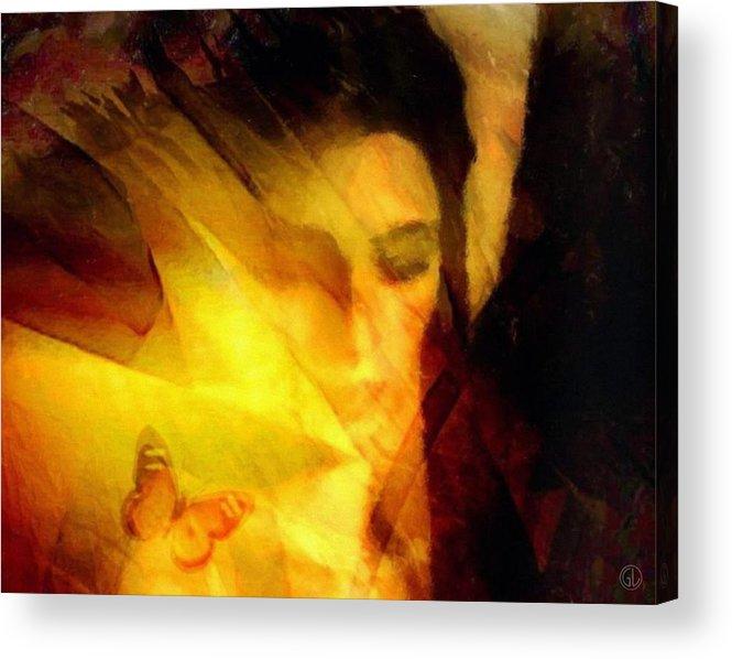 Digital Art Acrylic Print featuring the digital art Butterfly Moment by Gun Legler