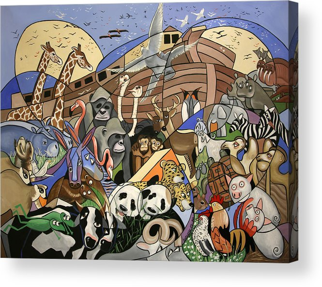 Noahs Ark Acrylic Print featuring the painting Noahs Ark by Anthony Falbo