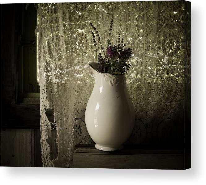 Lavender Acrylic Print featuring the photograph Tattered by Amy Weiss