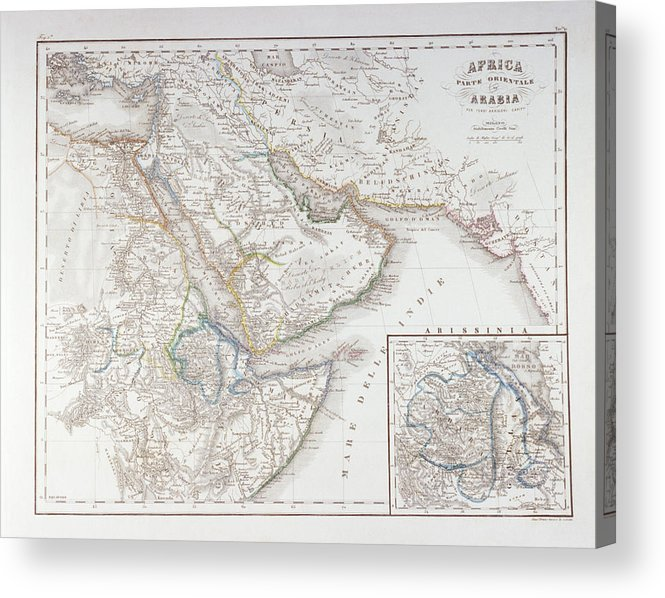 Horizontal Acrylic Print featuring the digital art West Africa And Arabia by Fototeca Storica Nazionale