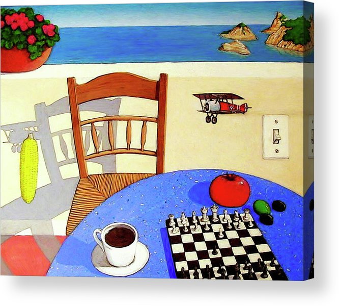 Chair Acrylic Print featuring the painting Afternoon Distractions by Snake Jagger