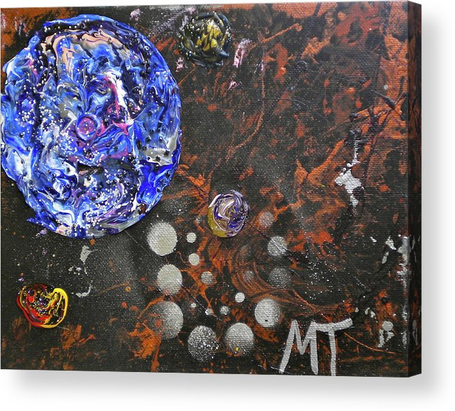 Mercury Acrylic Print featuring the painting Midnight Transit Planet by Dylan Chambers