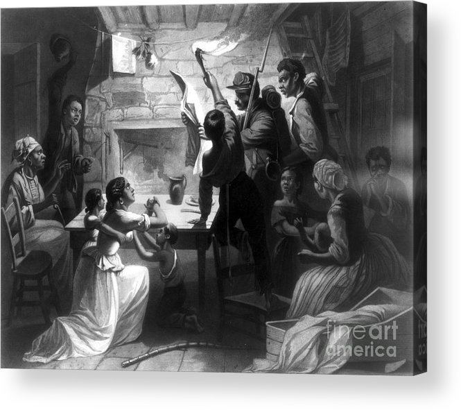 1863 Acrylic Print featuring the photograph Emancipation Proclamation by Granger