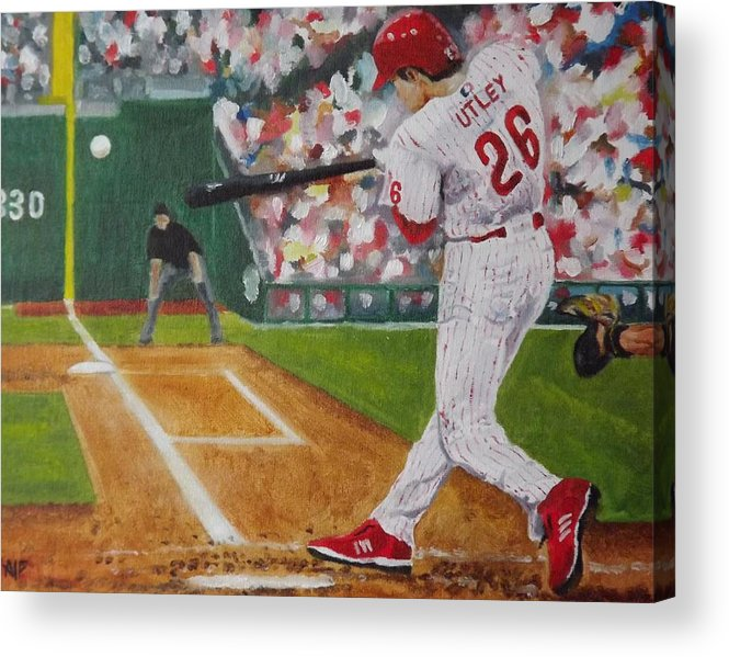 Ballpark Acrylic Print featuring the painting Chase by Al Fonollosa