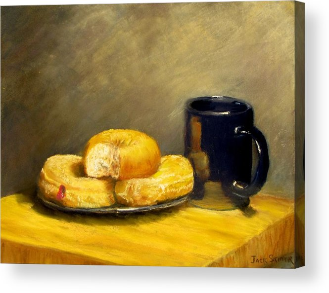 Still Life Acrylic Print featuring the painting First Call...breakfast by Jack Skinner