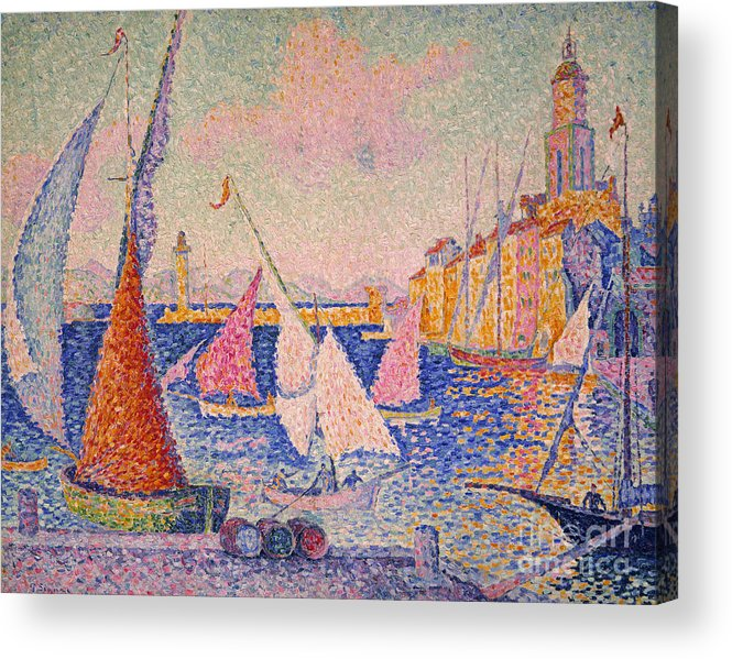 1899 Acrylic Print featuring the photograph Signac: St. Tropez Harbor by Granger