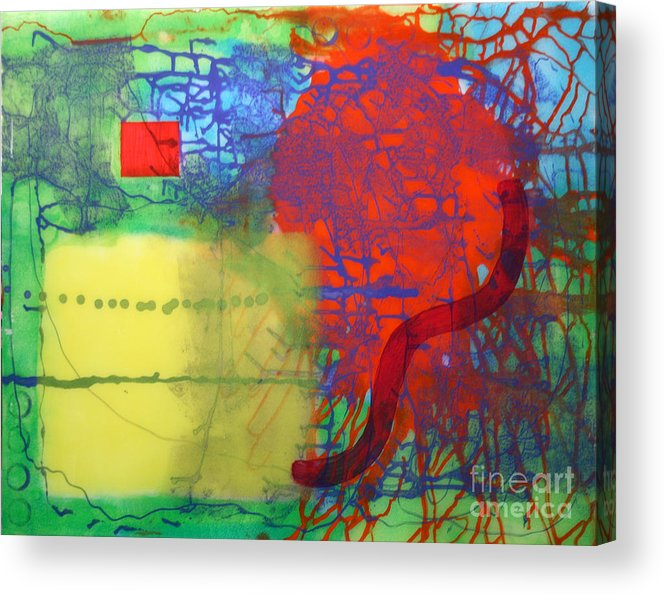 Abstract Acrylic Print featuring the painting Transit by Mordecai Colodner