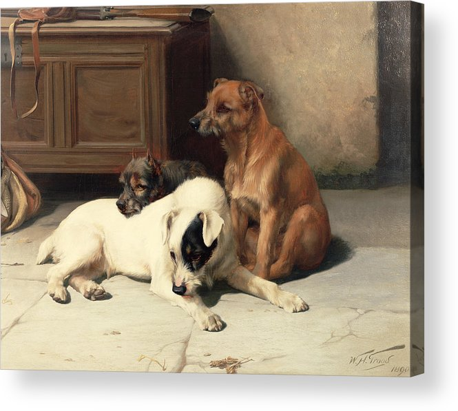 Waiting For Master Acrylic Print featuring the painting Waiting For Master by William Henry Hamilton Trood