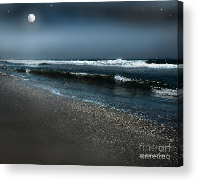 Beach Acrylic Print featuring the photograph Night Beach by Artist and Photographer Laura Wrede