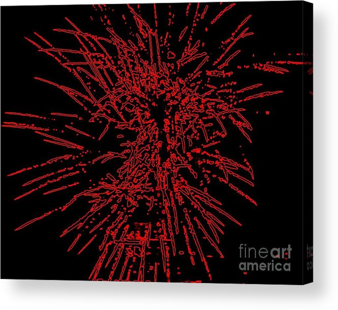 Art Acrylic Print featuring the painting Big Red by Shelia Kempf