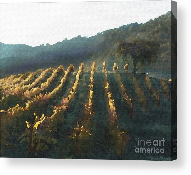 Corde Valle San Martin Ca Acrylic Print featuring the painting California Vineyard Series Wine Country by Artist and Photographer Laura Wrede