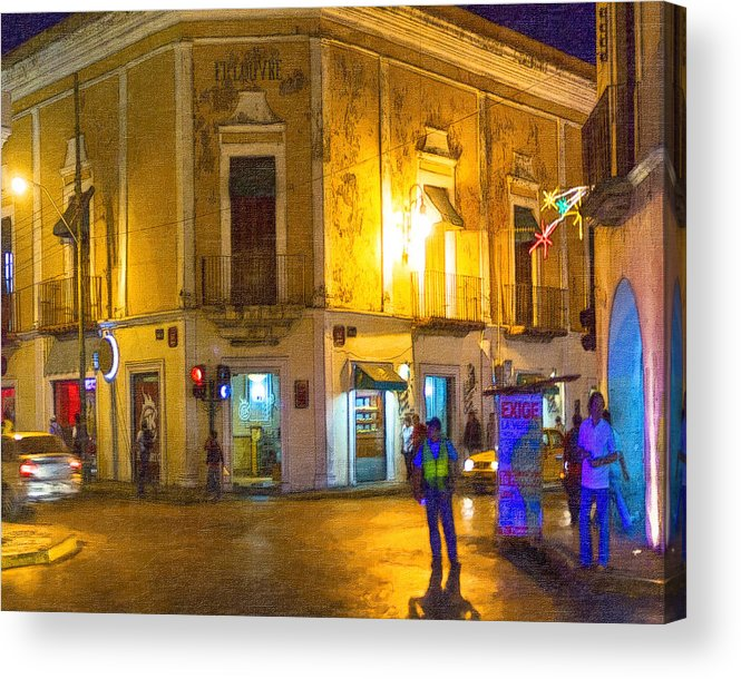 Merida Acrylic Print featuring the photograph Hot Nights In The Yucatan by Mark E Tisdale
