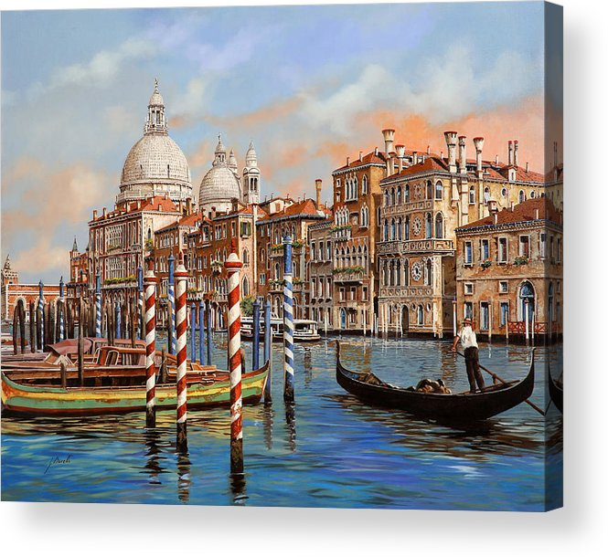 Venice Acrylic Print featuring the painting Il Canal Grande by Guido Borelli