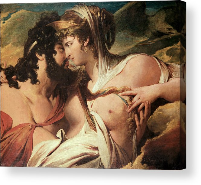 Hera Acrylic Print featuring the painting Jupiter And Juno On Mount Ida by James Barry