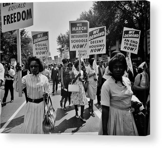 Civil Rights Acrylic Print featuring the photograph March For Equality by Benjamin Yeager