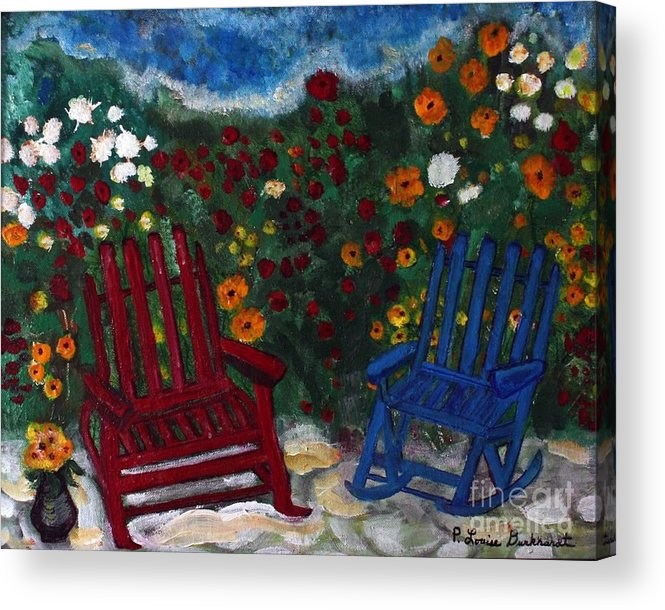Spring Scenery Acrylic Print featuring the painting Spring Memories by Louise Burkhardt