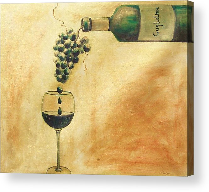 Wine Acrylic Print featuring the painting Taste Of Life by Sheri Chakamian