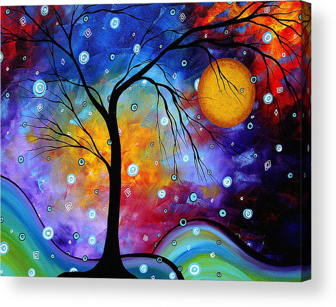 Abstract Acrylic Print featuring the painting Winter Sparkle Original Madart Painting by Megan Duncanson
