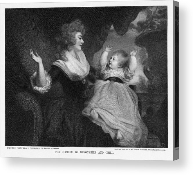 Georgiana Cavendish Acrylic Print featuring the photograph Georgiana, Duchess Of Devonshire by Miriam And Ira D. Wallach Division Of Art, Prints And Photographsnew York Public Library
