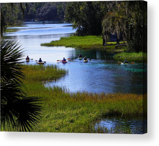 Nature Acrylic Print featuring the photograph Let's Kayak by Judy Wanamaker