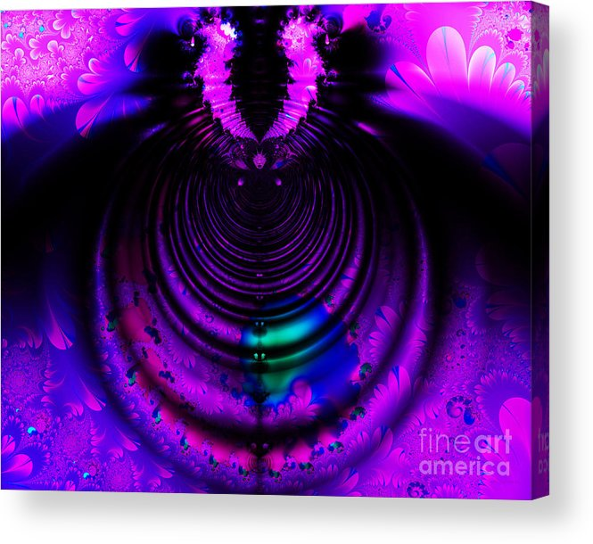 Fractal Acrylic Print featuring the digital art Melting Pot . Horizontal Cut . S8a.s11 by Wingsdomain Art and Photography