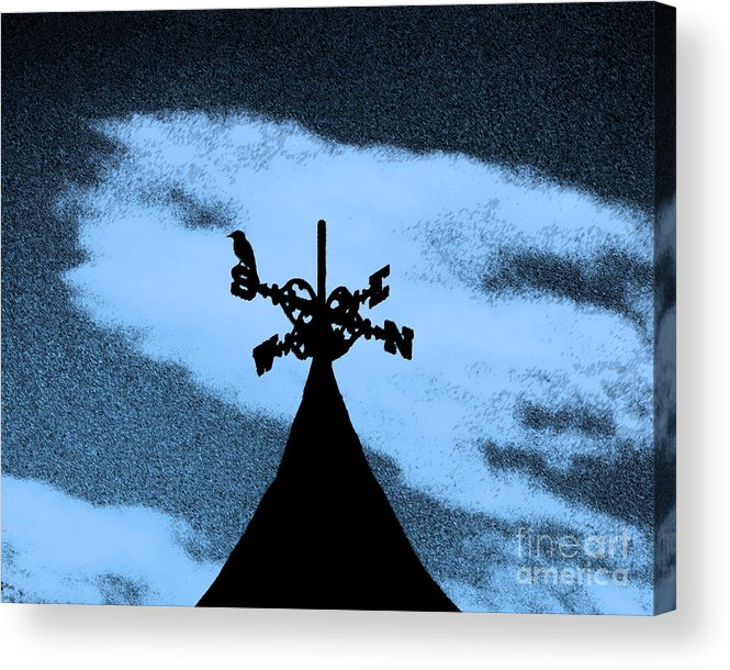Wind Vane Acrylic Print featuring the photograph Spooky Silhouette by Al Powell Photography USA