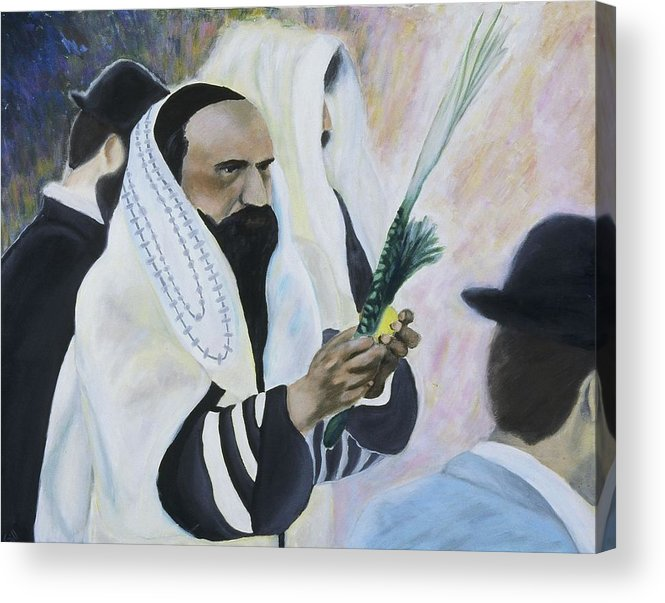 Fine Art Acrylic Print featuring the painting Sukkot by Iris Gill