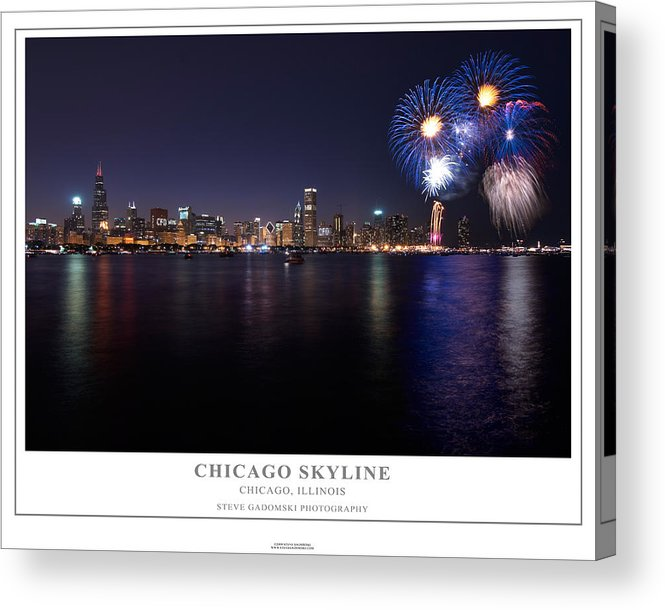 4th Acrylic Print featuring the photograph Chicago Lakefront Skyline Poster by Steve Gadomski