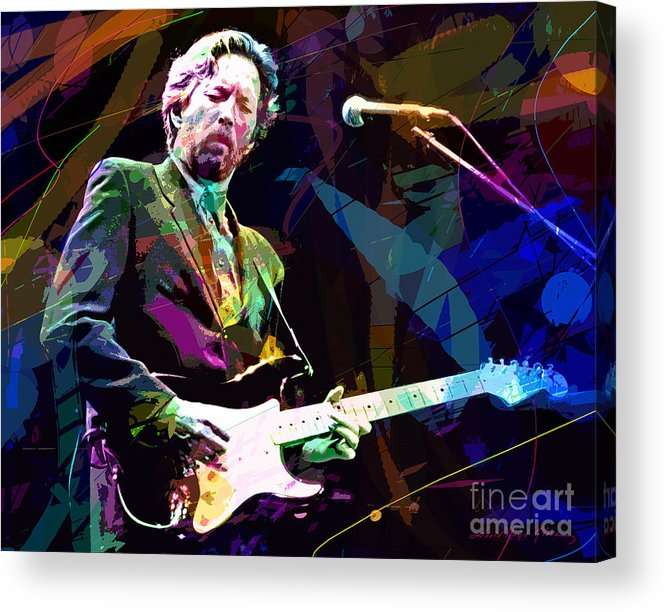 Eric Clapton Acrylic Print featuring the painting Clapton Live by David Lloyd Glover
