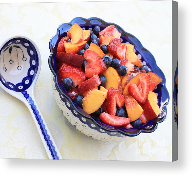 Fruit Acrylic Print featuring the photograph Fruit Salad With Spoon by Carol Groenen