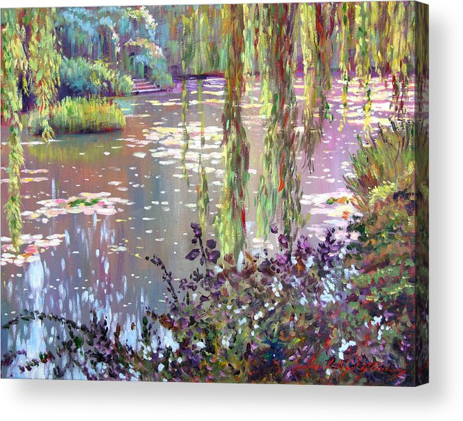 Impressionism Acrylic Print featuring the painting Homage To Monet by David Lloyd Glover