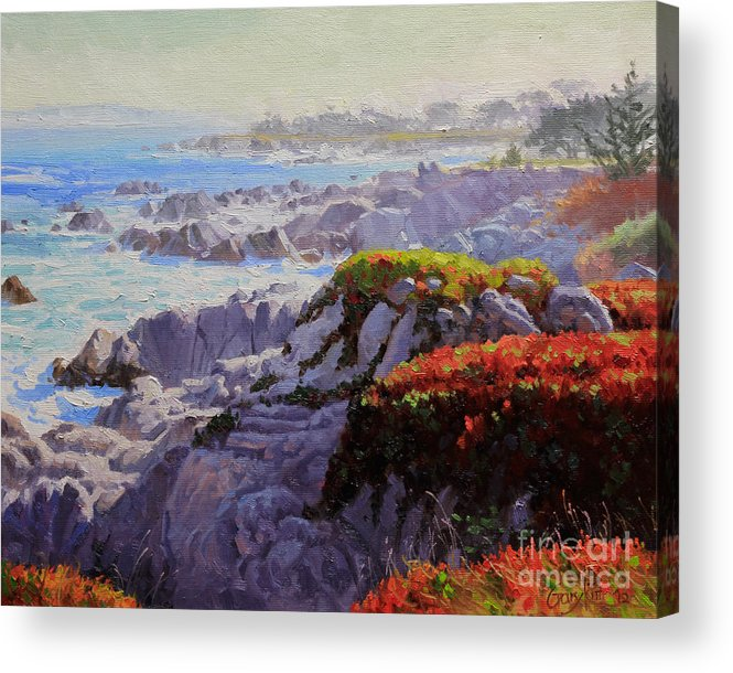 Monteray Bay Acrylic Print featuring the painting Monteray Bay Morning 2 by Gary Kim