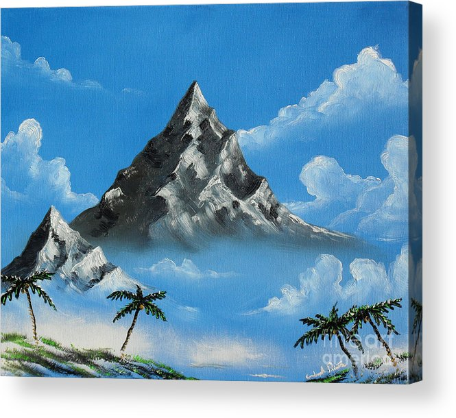 Landscape Acrylic Print featuring the painting Paradise Lost by Joseph Palotas