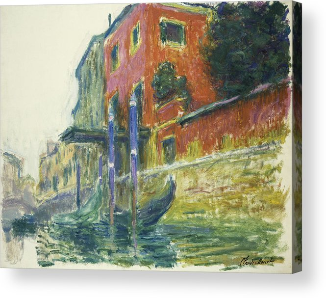 Claude Monet Acrylic Print featuring the painting The Red House by Claude Monet