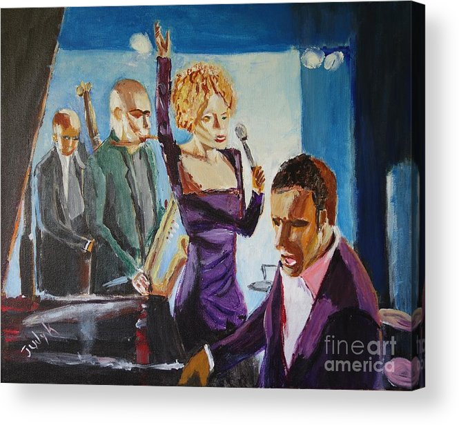 Music Acrylic Print featuring the painting After Hours by Judy Kay