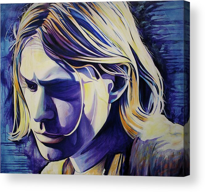 Kurt Cobain Acrylic Print featuring the painting All In All Is All We Are by Joshua Morton