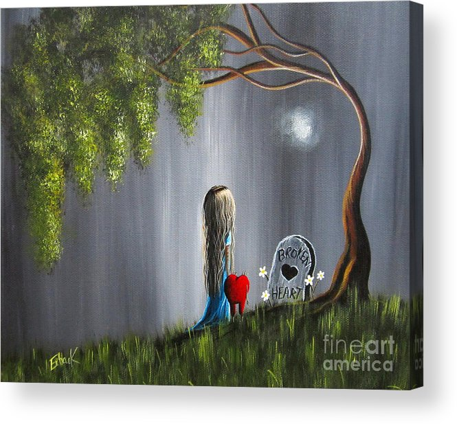 Lowbrow Acrylic Print featuring the painting Don't Worry I Won't Let That Happen To You By Shawna Erback by Shawna Erback